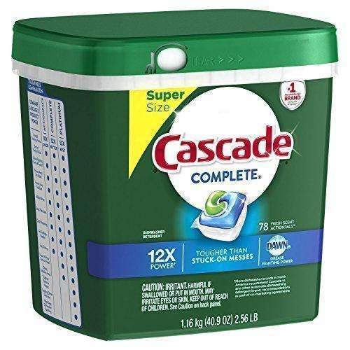 Cascade Complete Actionpacs Dishwasher Detergent, Fresh Scent, 78 Count: Health & Household- Shop MIXXCI