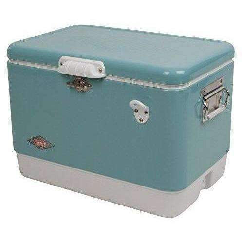 Coleman 54 Quart Vintage Steel Belted  Cooler: New- Shop MIXXCI