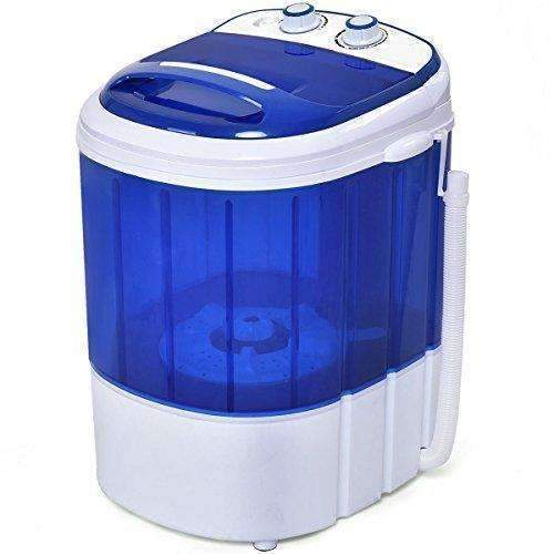 Costway Mini Washing Machine Small Compact Washer 7Lbs Capacity Blue: Appliances- Shop MIXXCI