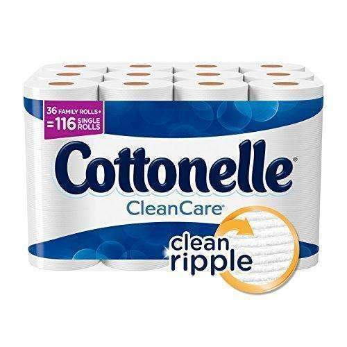 Cottonelle Cleancare Family Roll Toilet Paper (Pack Of 36 Rolls), Bath Tissue With Clean Ripple Texture, Sewer And Septic Safe. 250 Sheets/Roll: Health & Household- Shop MIXXCI