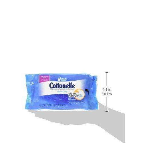 Cottonelle Freshcare Flushable Wipes, 42 Count, (Pack Of 8): Health & Household- Shop MIXXCI
