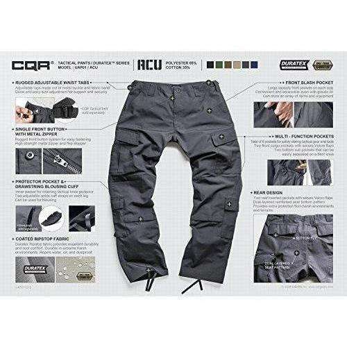 CQR Men's ACU / BDU Rip Stop Trouser EDC Tactical Combat Pants: Men's Pants- Shop MIXXCI