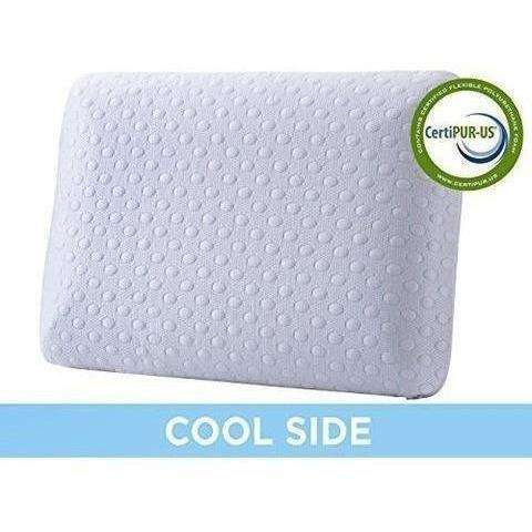 Cr Sleep Ventilated Memory Foam Bed Pillow with AirCell Technology: Bedding & Bath- Shop MIXXCI
