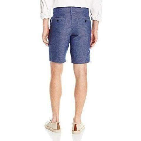 Cubavera Men'S Horizontal Dobby Stretch Short, Navy: Men's Shorts- Shop MIXXCI