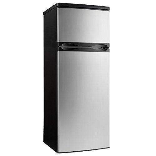 Danby Dpf073C1Bsldd Designer 7.3 Cu.Ft. Two Door Apartment Size Refrigerator, Steel: Appliances- Shop MIXXCI