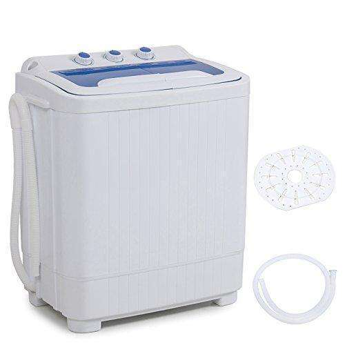 Della Mini Washing Machine Portable Compact Washer and Spin Dry Cycle with BUILT-IN PUMP, White: Appliances- Shop MIXXCI