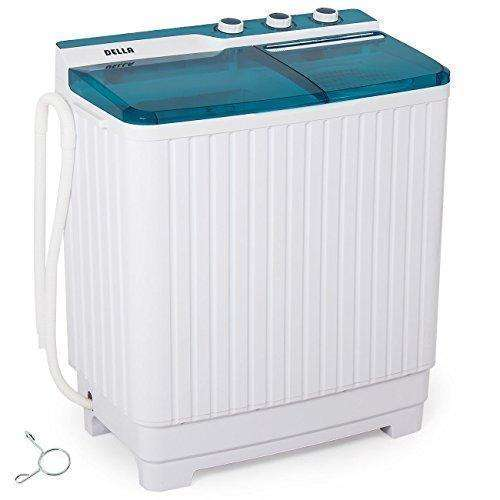 Della Portable Mini Compact Twin Tub Washing Machine Washer Spin Dryer Cycle (9Kg) With Built-In Pump: - Shop MIXXCI