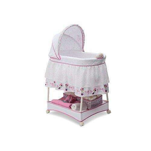 Delta Children Gliding Bassinet, Disney Minnie Mouse Boutique: Bassinet- Shop MIXXCI
