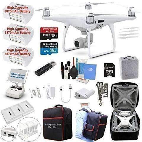 Dji Phantom 4 Pro Drone Quadcopter Bundle Kit With 3 Batteries, 4K Professional Camera Gimbal And Must Have Accessories: Hobbies- Shop MIXXCI