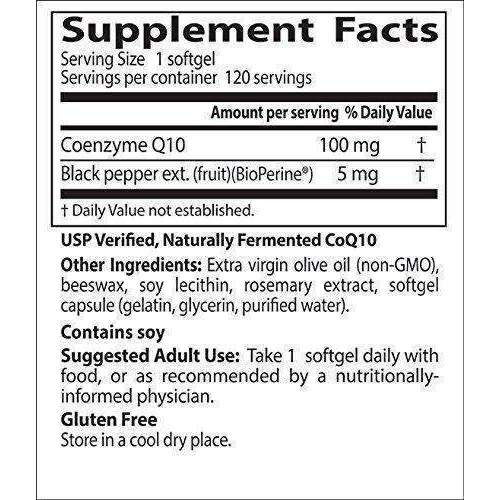Doctor'S Best High Absorption Coq10 With Bioperine, Gluten Free, Naturally Fermented, Heart Health, Energy Production,100 Mg 120 Softgels: Health & Household- Shop MIXXCI