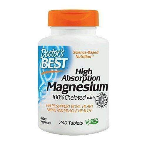Doctor'S Best High Absorption Magnesium Glycinate Lysinate, 100% Chelated, Non-Gmo, Vegan, Gluten Free, Soy Free,  200 Mg, 240 Tablets: Health & Household- Shop MIXXCI
