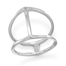 Double Row Ring With Center Bar, 10: Womens Rings- Shop MIXXCI