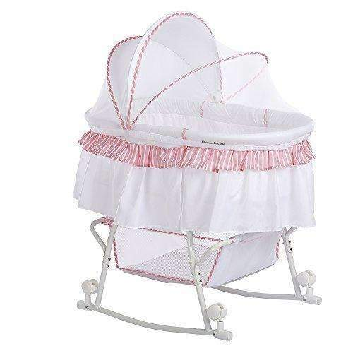 Dream On Me Lacy Portable 2-In-1 Bassinet: Bassinet- Shop MIXXCI