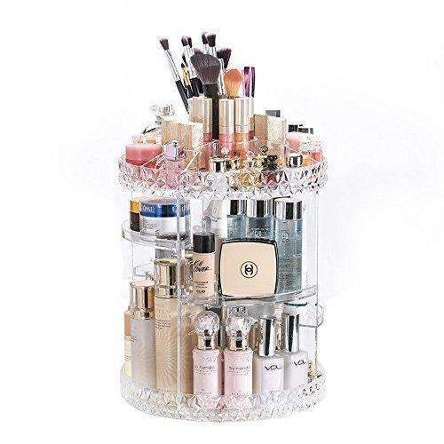 Dreamgenius Makeup Organizer 360-Degree Rotating Adjustable Multi-Function Acrylic Cosmetic Storage: Bath Products- Shop MIXXCI