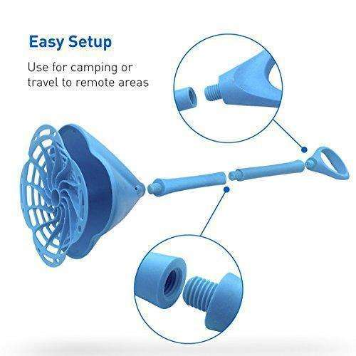 EasyGoProducts Hand Powered Clothes Washing Wand, Blue: Appliances- Shop MIXXCI