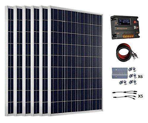 Eco-Worthy 600 Watts (6Pcs 100 Watt) Solar Panel Kit With 20A Lcd Charge Controller For 24 Volt Battery System: - Shop MIXXCI