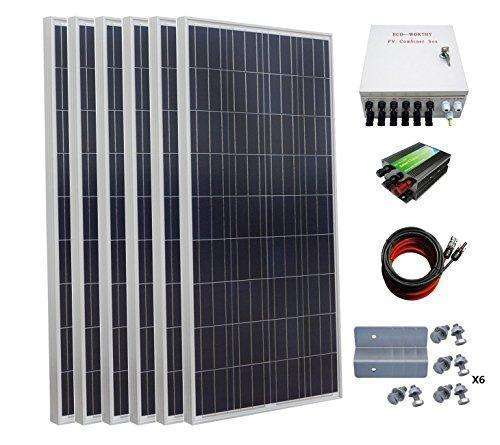 Eco-Worthy 900 Watt 24 Volt Solar Panel Off Grid Rv Boat Kit With 45A Pwm Charge Controller: Kit Cabin- Shop MIXXCI