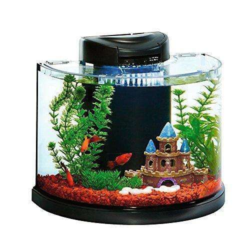 Elive AquaDuo 3 Gallon Betta Aquarium Fish Tank Kit, LED Lighting, Aquaponic and Power Filter, Cartridges and Hydrocorn Included: Aquariums & Fish Bowls- Shop MIXXCI