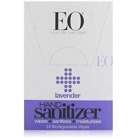 Eo Sanitizing Hand Wipes, Organic Lavender, Biodegradable, 24-Count Boxes (Pack Of 2): New- Shop MIXXCI