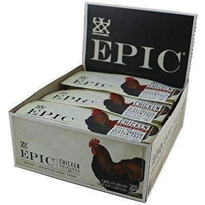 Epic All Natural Meat Bar, 100% Natural, Chicken Sriracha, 1.5 Ounce, 12 Count: Pantry- Shop MIXXCI
