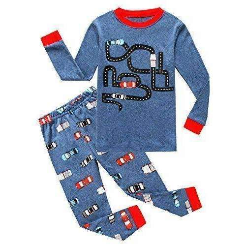 Family Feeling Truck Little Boys Kids Pajamas Sets 100% Cotton Pjs Toddler: Boys Clothing- Shop MIXXCI