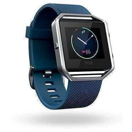 Fitbit Blaze Smart Fitness Watch, Blue, Silver, Large (Us Version): Wearable Technology- Shop MIXXCI