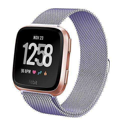 Fitbit Versa Bands for Women Men Small Large, hooroor Milanese Loop Stainless Steel Metal Replacement Bracelet Strap with Unique Magnet Lock Accessories Wristbands for Fitbit Versa Fitness Smart Watch: Wearable Technology- Shop MIXXCI