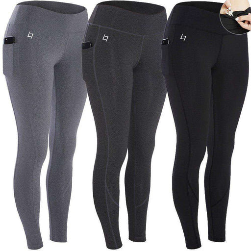 3d10afcf8ba4f FITTIN Women's Workout Leggings Capris With Pocket - Yoga Pants For Running  Sports Fitness Gym: