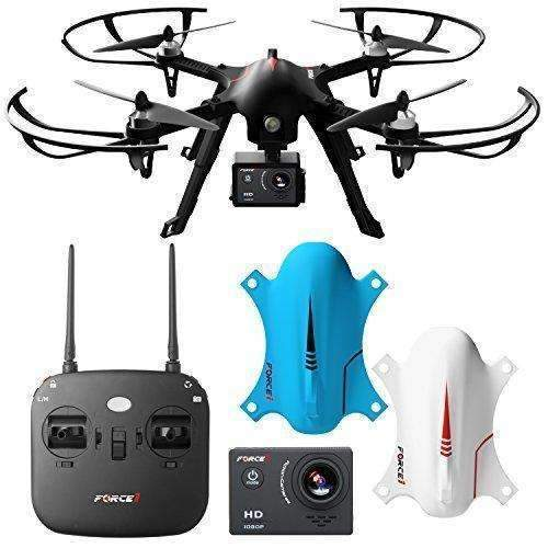 Force1 F100 Ghost Drone With Camera - Compatible Go Pro Drone With Brushless Drone Motors And 2 Batteries And 2 Shells: Hobbies- Shop MIXXCI