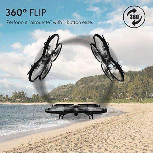 Force1 Udi U818A Camera Drone For Kids - Hd Drone With Camera For Beginners - 720P Rc Camera Drones W/ 360° Flips & Extra Battery: Hobbies- Shop MIXXCI