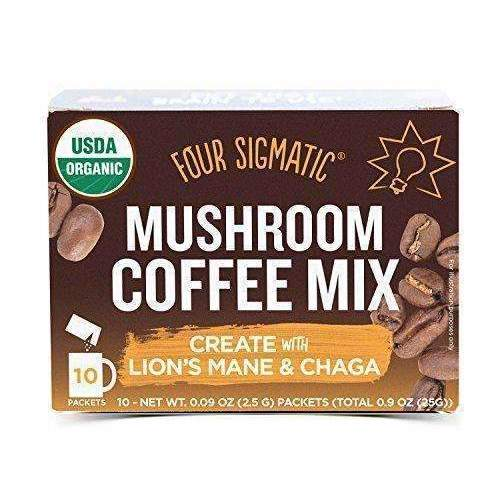 Four Sigmatic Mushroom Coffee, Usda Organic Coffee With Lion'S Mane And Chaga Mushrooms, Productivity, Vegan, Paleo, 10 Count, Packaging May Vary: Grocery & Gourmet Food- Shop MIXXCI