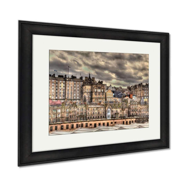 Framed Prints View Of The City Centre Of Edinburgh Scotland Wall Art Decor Giclee Photo Print In: Framed Print- Shop MIXXCI