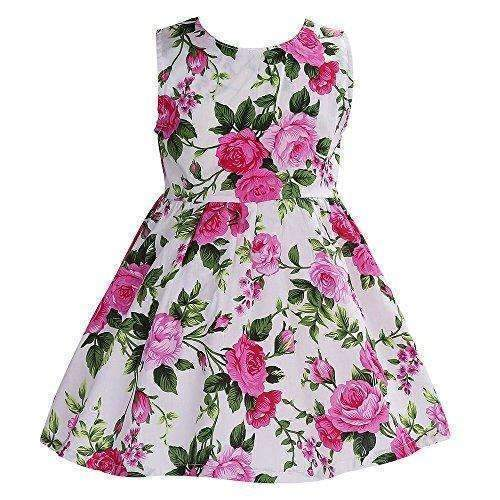 Fubin Kid Floral Cotton Girls Dresses Summer Girl Clothes: Girls Clothing- Shop MIXXCI