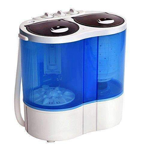 Giantex Portable Mini Washing Machine Gravity Drain Compact Twin Tub 15Lb Washer Spinner Furni: Appliances- Shop MIXXCI