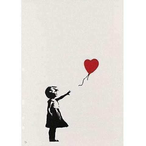Girl With Balloon Signed: Paper Art- Shop MIXXCI