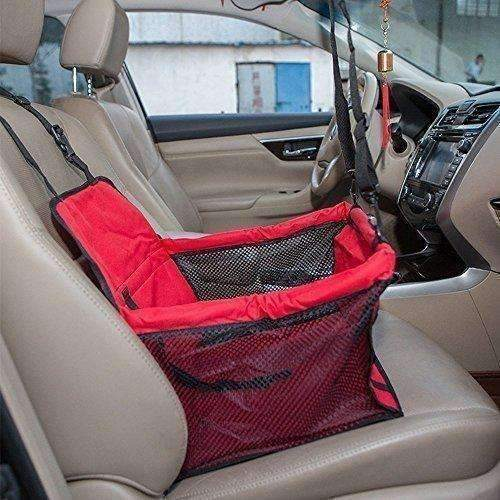 Henweit Car Booster Seat Carrier For Dog Folding Pet Cat Car Travel Safety Seat Belt Harness Cover Pet Traveling Carrier Bag Portable With Clip-On Safety Leash And Zipper Storage Pocket: New- Shop MIXXCI