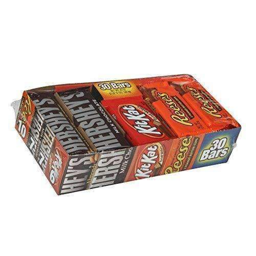 Hershey Chocolate Candy Bar Variety Pack, Hershey'S Milk Chocolate, Reese'S Peanut Butter Cups, And Kit Kat Bars, 30 Count Box: Grocery & Gourmet Food- Shop MIXXCI