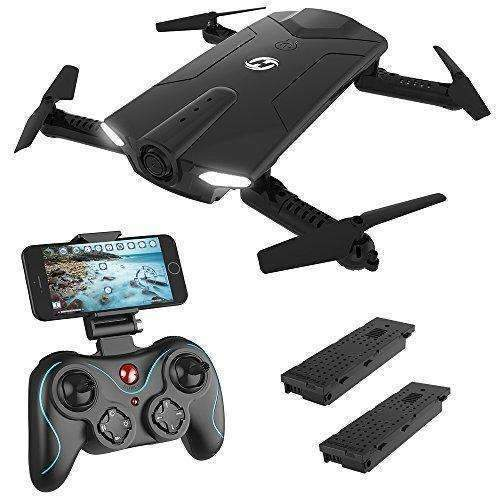 Holy Stone Hs160 Shadow Fpv Rc Drone With 720P Hd Wi-Fi Camera Live Video Feed 2.4Ghz 6-Axis Gyro Quadcopter For Kids & Beginners - Altitude Hold, One Key Start, Foldable Arms,Bonus Battery: Hobbies- Shop MIXXCI
