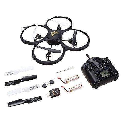 Holy Stone U818A Drone With 720P Hd Camera 2.4 Ghz 6-Axis Gyro Rc Quadcopter For Kids With Headless Mode, One Key Return And Low Voltage Alarm, Easy & Safe To Fly, Includes Bonus Battery: Hobbies- Shop MIXXCI