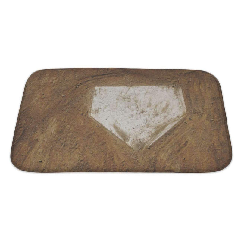 "Home Plate Baseball Bath Mat, Microfiber, Foam With Non Skid Backing, 34""X21"", Gn3597: Bath Mat- Shop MIXXCI"