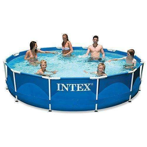 Intex 12Ft X 30In Metal Frame Pool Set With Filter Pump: Swimming Pools- Shop MIXXCI
