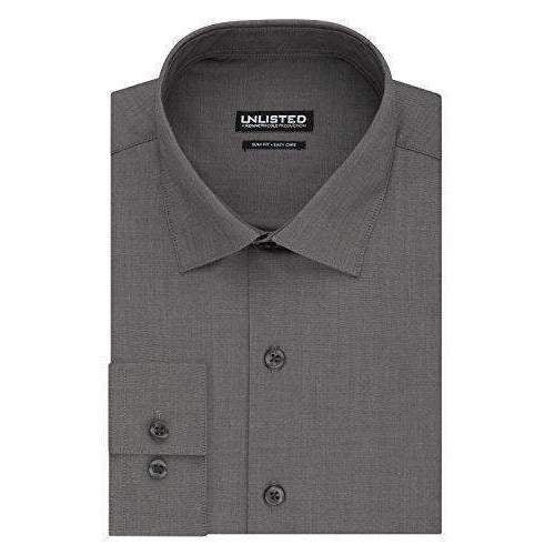 Kenneth Cole Unlisted Men'S Slim Fit Solid Spread Collar Dress Shirt: Mens Shirts- Shop MIXXCI