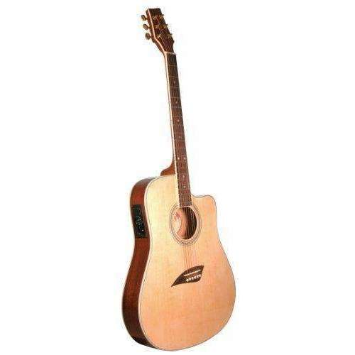 Kona K2 Acoustic Electric Dreadnought Cutaway Guitar In Natural High Gloss Finish: Acoustic-Electric Guitars- Shop MIXXCI