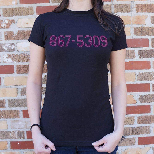 Ladies 867-5309 T-Shirt: T-Shirt- Shop MIXXCI