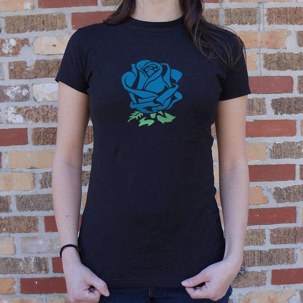 Ladies Blue Rose T-Shirt: T-Shirt- Shop MIXXCI