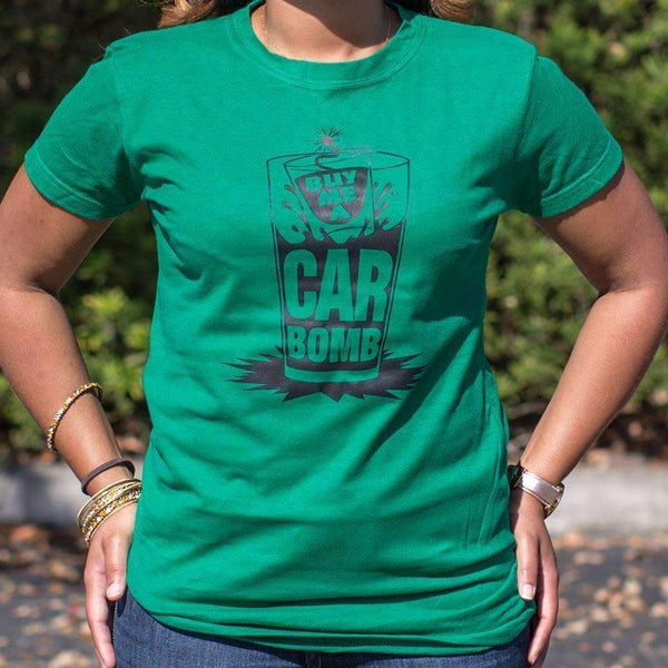 Ladies Buy Me A Car Bomb T-Shirt: T-Shirt- Shop MIXXCI