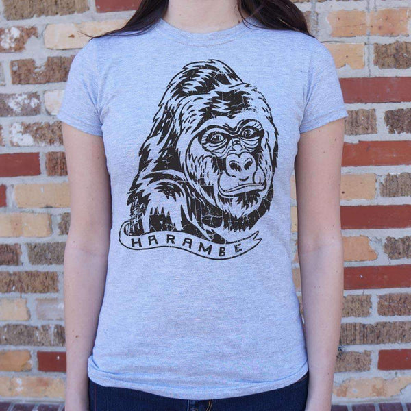 Ladies Harambe T-Shirt: T-Shirt- Shop MIXXCI
