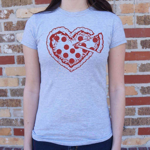 Ladies Pizza My Heart T-Shirt: T-Shirt- Shop MIXXCI