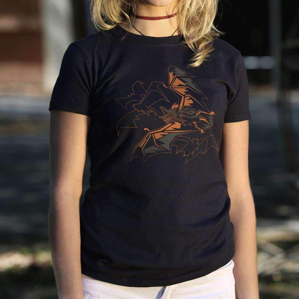 Ladies Polygon Bats T-Shirt: T-Shirt- Shop MIXXCI
