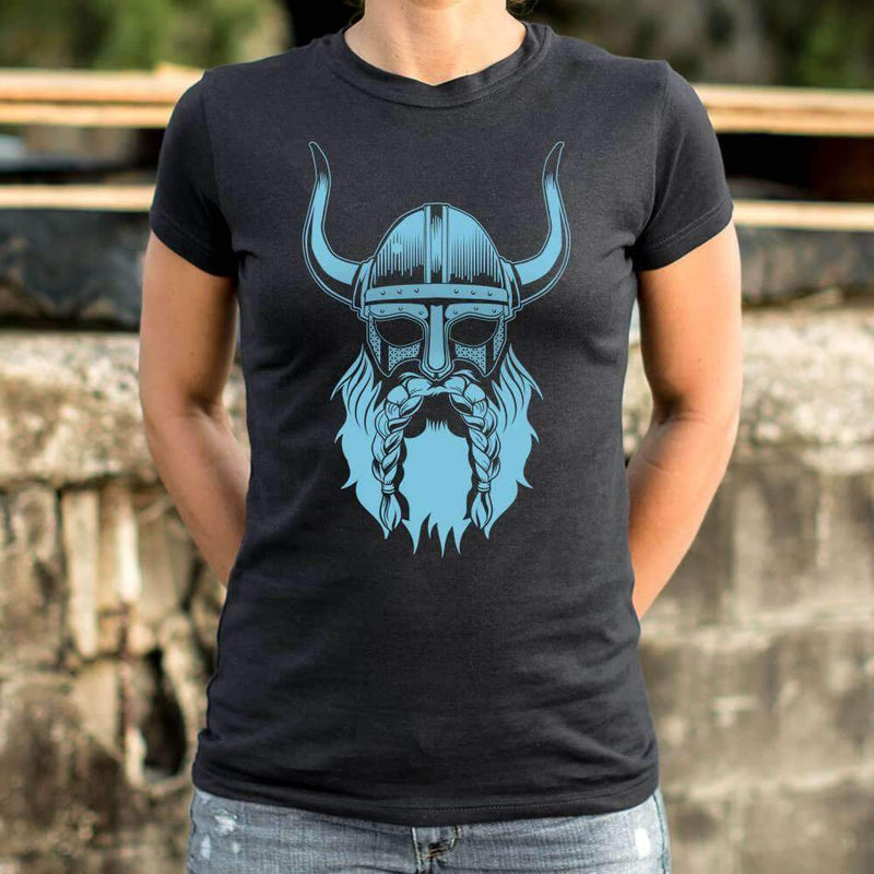 Ladies Viking Spirit Beard T-Shirt: T-Shirt- Shop MIXXCI